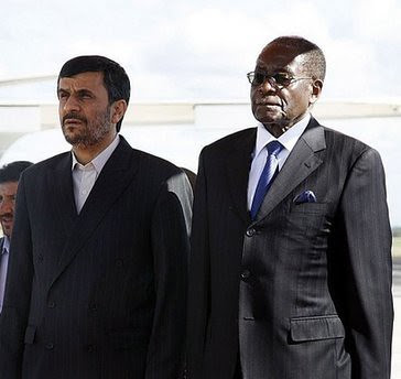 Iranian and Zimbawe leaders on April 22, 2010. The president of Iran was visiting Zimbabwe. The two anti-imperialist states have close fraternal relations. by Pan-African News Wire File Photos