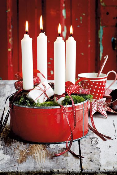 Sweet and simple Advent wreath.