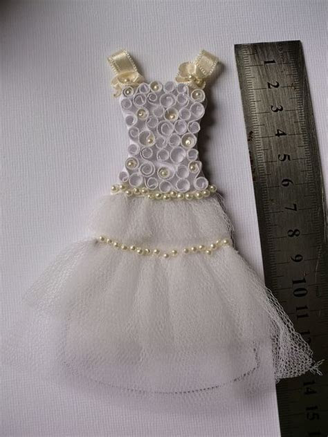 Quilled dress   for a bridesmaid, perhaps, or for a simple