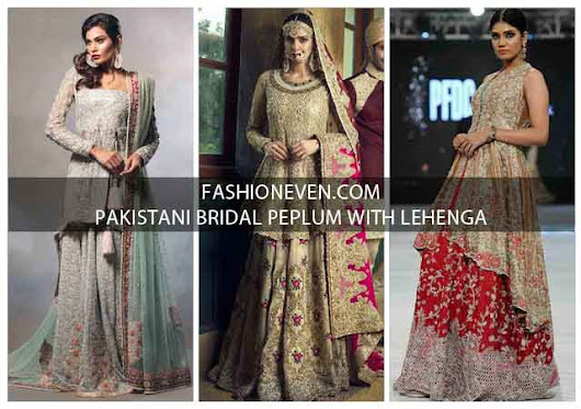 Latest Bridal Peplum Tops With Lehenga Designs 2017
