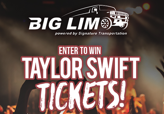 Taylor Swift 2 Ticket Giveaway with VIP Lounge Access, Food & Drink and Free Limo Service!