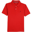 Nautica Little Boys Anchor Solid Polo Shirt Red