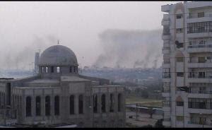 homs εκκενωση φωτια