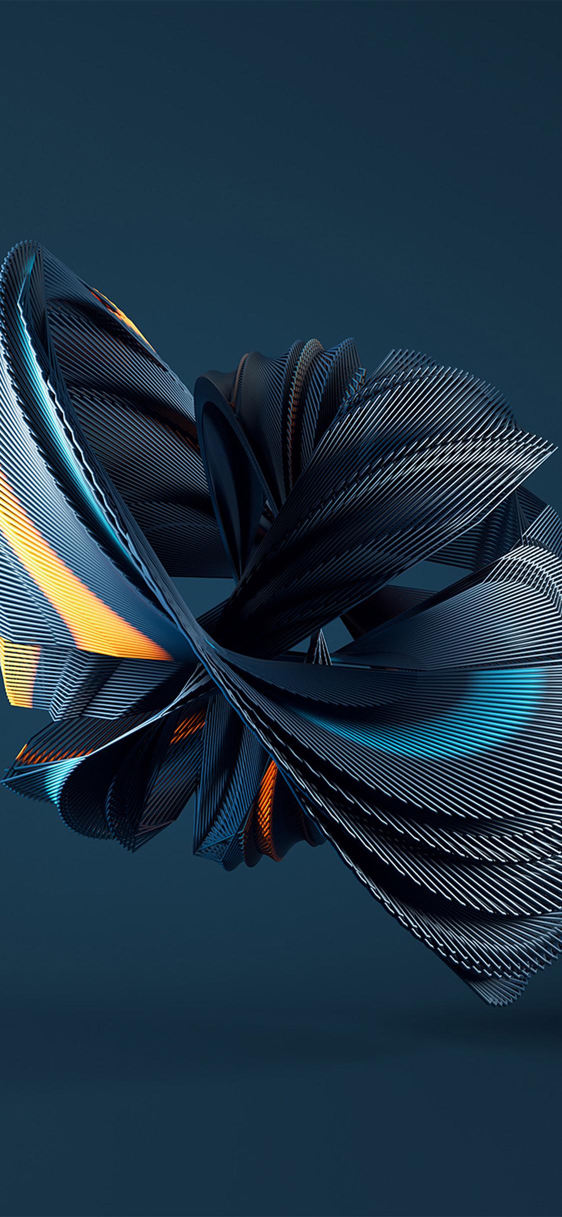 Iphonexpapers Com Iphone X Wallpaper Vz00 Digital Art Blue Weird Pattern Background
