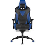Gamdias ACHILLES M1-L - Chair - armrests - T-shaped - swivel - leather look vinyl - blue