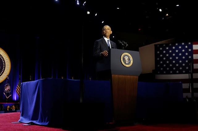 Le président américain sortant Barack Obama... (PHOTO Jonathan Ernst, REUTERS)
