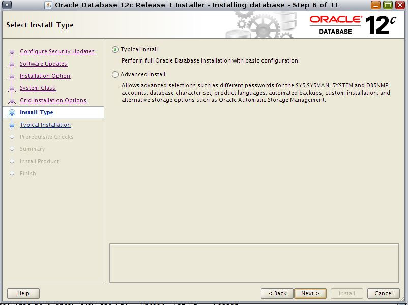 Oracle 12c installation on Virtual host