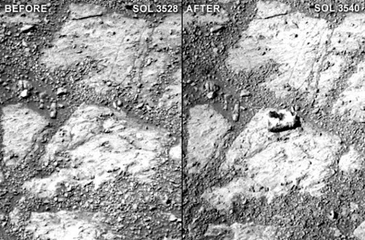 Mystery rock suddenly appears near Mars rover, puzzling scientists
