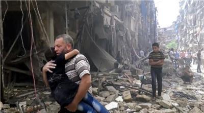Hasil gambar untuk muslim aleppo korban perang