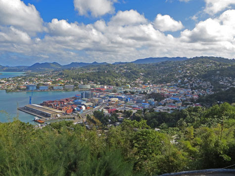 Castries City on the Island of St. Lucia