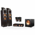 Klipsch RP-8000F 5.1.2 Dolby Atmos Home Theater System, Ebony