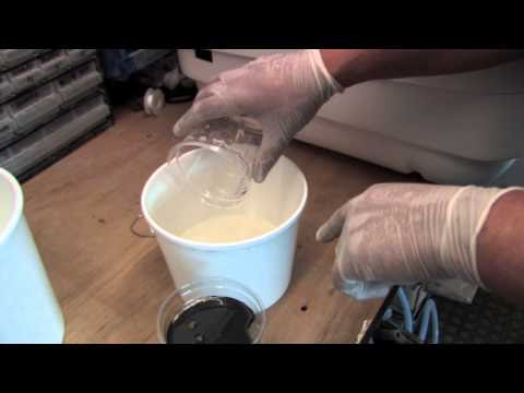 Mixing Polyurethane Foam Liquid