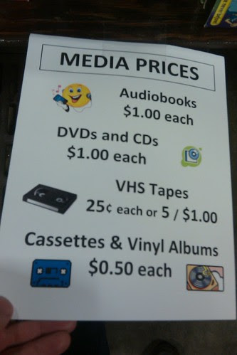 Book sale: media prices