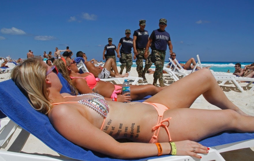 Image result for US State Dept. warns college students against spring break travel to Mexico