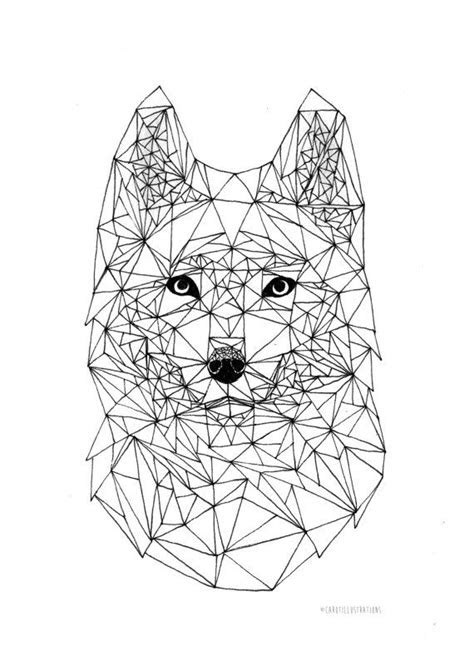 geometric wolf ideas  pinterest geometric