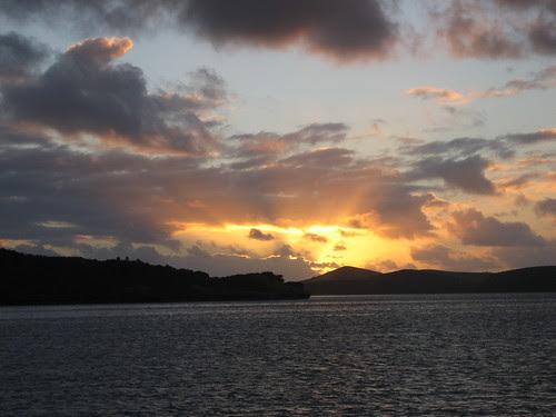 sunset ilot Moro