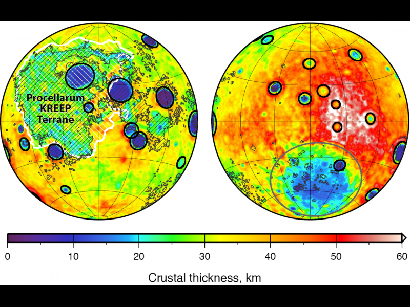 Crustal Thickness Map of the Moon