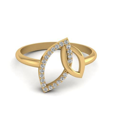 2 Heart Shaped Bow Diamond Ring In 14K Rose Gold