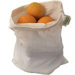 ORGANIC COTTON Reusable PRODUCE BAGS - 3 LARGE | Organic Cotton Mart