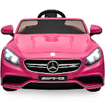 Best Choice Products 12V Kids Licensed Mercedes Benz S63 Coupe Ride on Car w/ Parent Control, MP3, 3 Speeds Pink