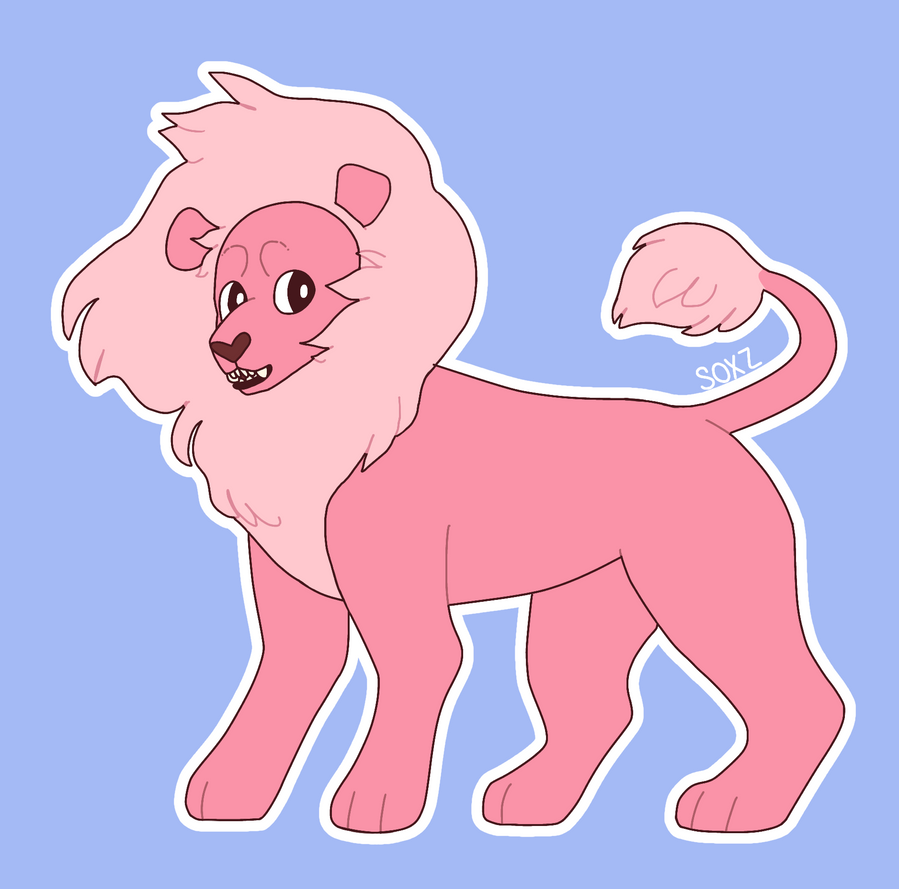 A little drawing I made on my phone of Lion from Steven Universe eee
