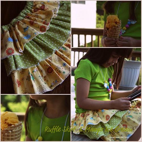 Ruffle Skirt & Mango Ice Cream by Fitri D. // Rumah Manis