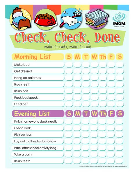 1000+ ideas about Kids Checklist on Pinterest | Kids chore list ...