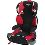 Graco Affix High Back Booster Car Seat, Black/Red