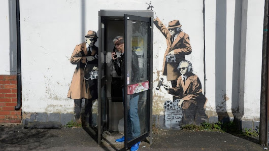 'Banksy' artwork appears near GCHQ