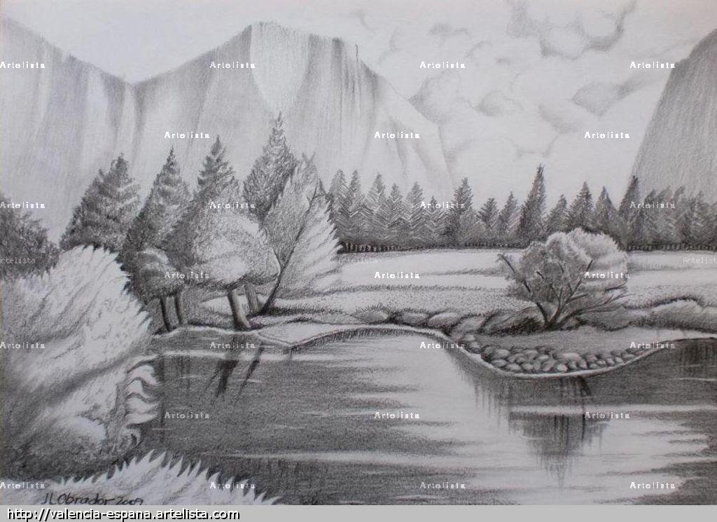 Dibujos De Paisajes A Lapiz Faciles Imagui