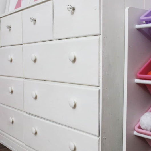 Vintage Dresser Makeover - The Summery Umbrella