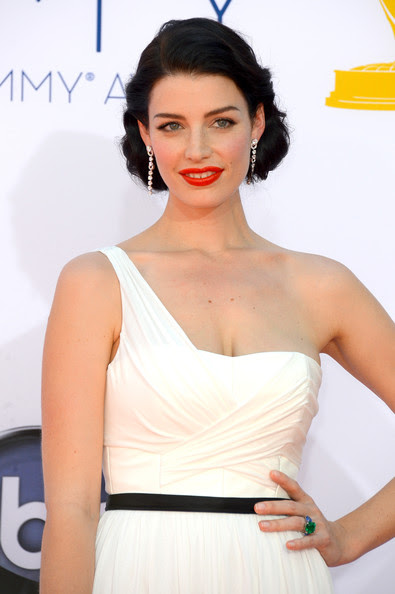 Actress Jessica Pare arrives at the 64th Annual Primetime Emmy Awards at Nokia Theatre L.A. Live on September 23, 2012 in Los Angeles, California.