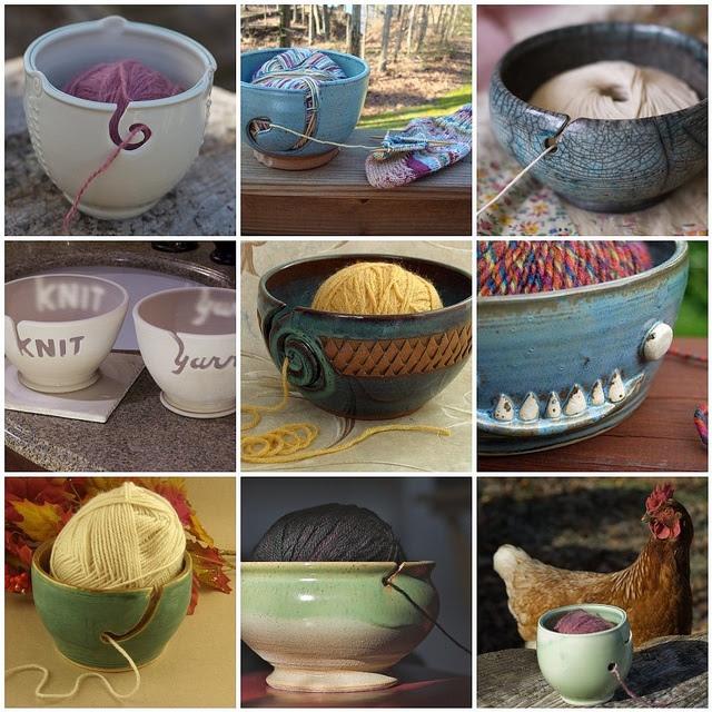 Ceramic yarn bowls to support my yarn addiction.