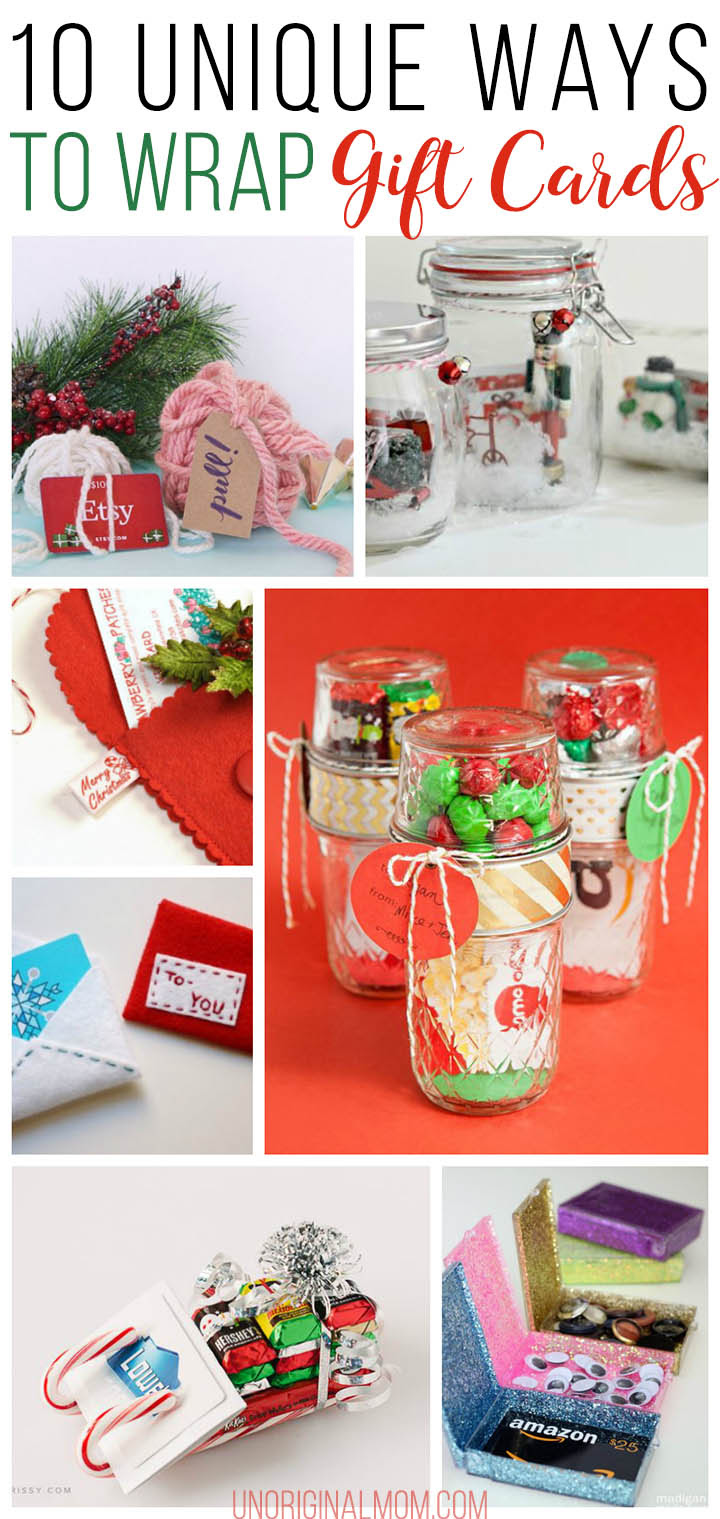 10 Unique Gift Card Wrapping Ideas Unoriginal Mom