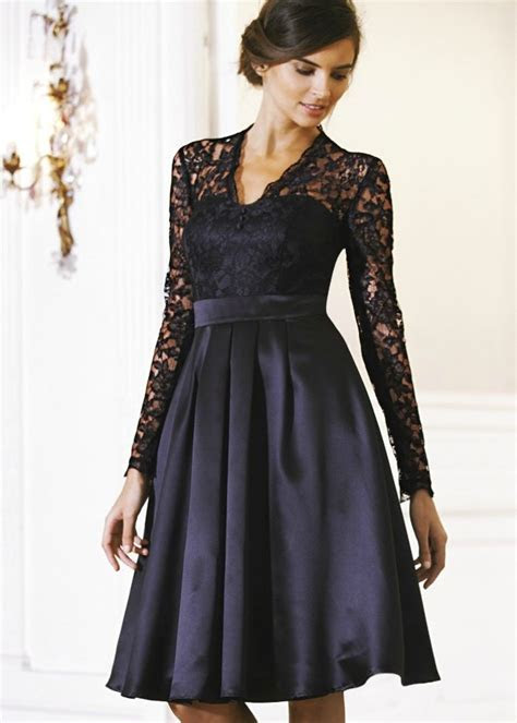 long lace black bridesmaid dresses   Teatro Lace Long