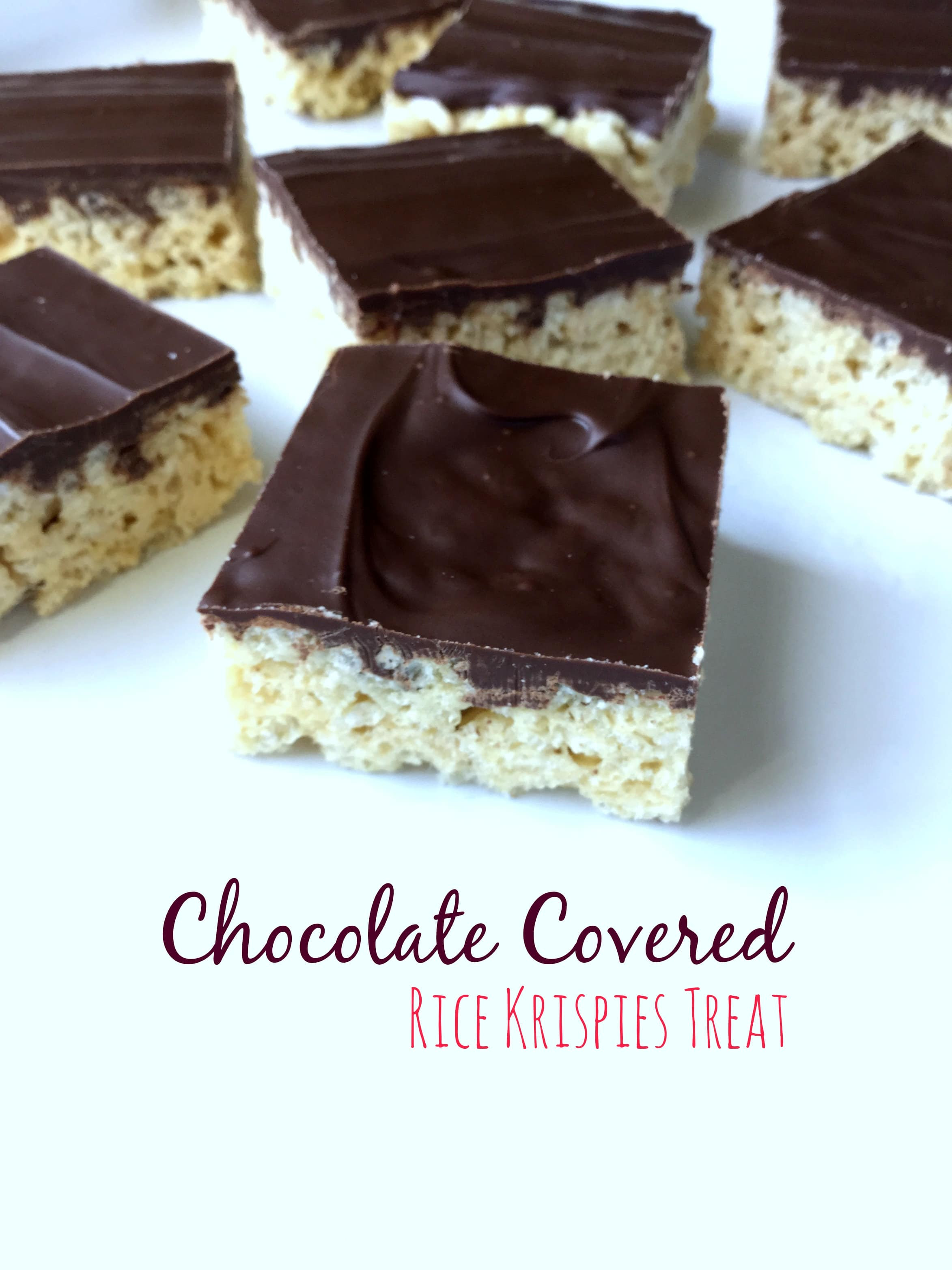 Chocolate Covered Rice Krispies Treat | Garden in the Kitchen