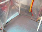 Resultados do chão de uma cabine em uso