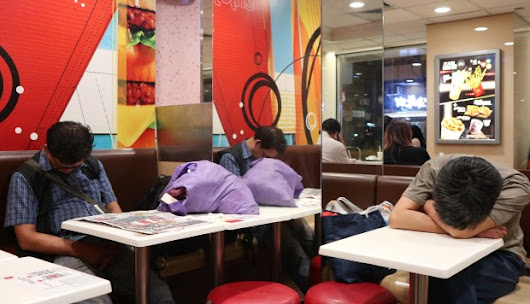 Number of people sleeping in Hong Kong McDonald's branches skyrockets, as residents battle high rents and substandard housing | South China Morning Post