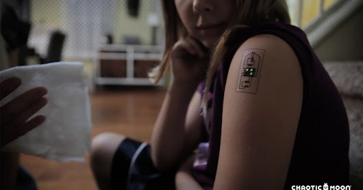 Temp tech tattoos can monitor your health and location