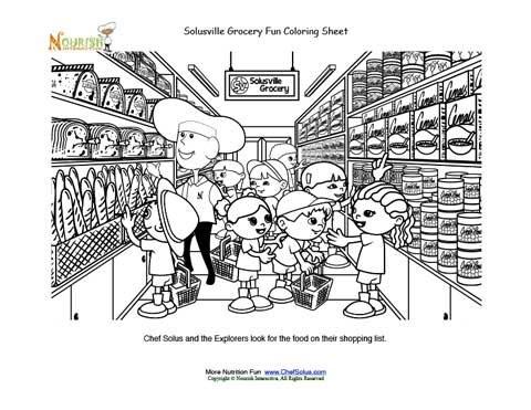 Página Para Colorear Del Chef Solus Y Los Exploradores Van De