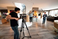 Fine Luxury Homes Video Production - Filming on Set