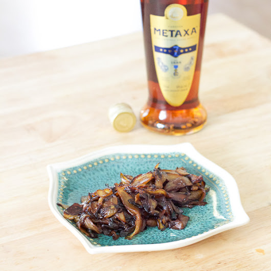 Greek Caramelized Onions | Metaxa Onions | Lemon & Olives | Greek Food & Culture Blog