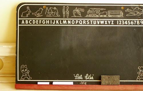 Vintage chalkboard circa 1943