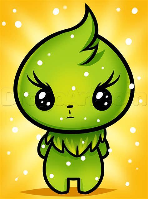 draw kawaii grinch step  step characters pop