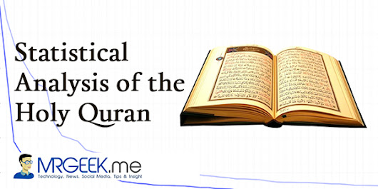 Statistical Analysis of the Holy Quran (Part 1)