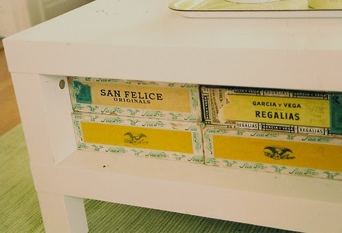 rows of old cigar boxes.