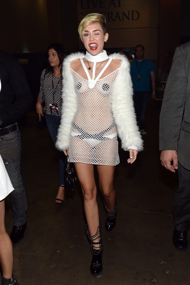 Miley Cyrus em evento em Las Vegas (Foto: Getty Images)