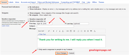 How to set up Auto-reply messages in Gmail