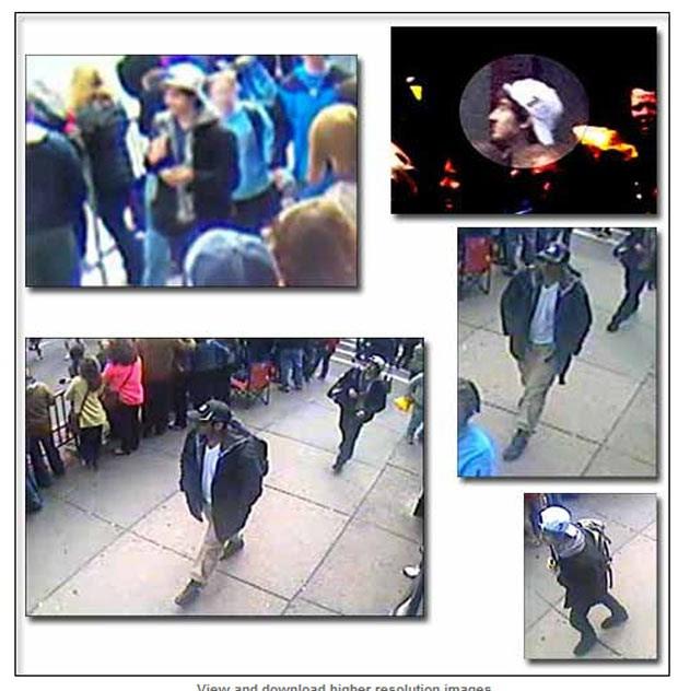 Imagens dos possíveis envolvidos (Foto: FBI/Divulgação)