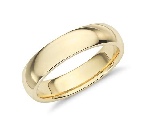 Comfort Fit Wedding Band in 18k Yellow Gold (5mm)   Blue Nile